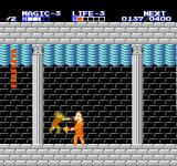 Zelda II: The Adventure of Link NES The boss in the first temple. He's easy, just hit him in the head.
