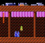 Zelda II: The Adventure of Link NES I'm using the down-stab attack.