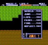 Zelda II: The Adventure of Link NES My spells and items can be seen here.