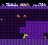Zelda II: The Adventure of Link NES Breaking blocks to get to a key. To be able to do this, you need the magic glove.