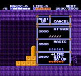 Zelda II: The Adventure of Link NES When you kill enemies, you get experience points. When enough is gained, you can upgrade your attack, magic, or life.