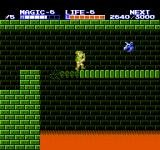 Zelda II: The Adventure of Link NES I have to hurry, the bridge is collapsing under my feet!