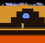 Zelda II: The Adventure of Link NES Living jelly is attacking from above, in the last temple.