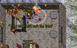 Ultima VII: The Black Gate DOS A big battle against the mage Selwyn and his party of rebels
