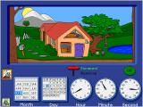 Trudy's Time and Place House Windows The Calendar Clock game gives the player many ways to learn and experience time