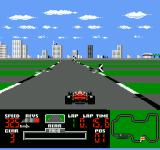Ferrari Grand Prix Challenge NES Going top speed