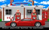 Test Drive II Scenery Disk: European Challenge Amiga At the gas station in Holland