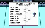 Blades of Steel DOS Beginning a tournament game (CGA)