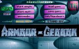 Armour-Geddon DOS Main Menu