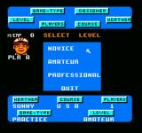 Greg Norman's Golf Power NES Difficulty levels