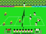 Attack Four VolleyBall MSX A player is thrown back by a fast ball