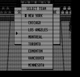 Blades of Steel DOS Select a team (Hercules Monochrome)