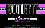Boot Camp DOS Title screen (CGA)