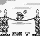 Taz-Mania Game Boy Use the tornado spin to kill enemies.