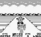 Taz-Mania Game Boy Avoid the obstacles...