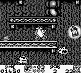 Taz-Mania Game Boy Spooky environment.