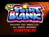 Point Blank PlayStation Title screen