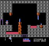 Kid Icarus NES A dangerous room in the third fortress, filled with deadly traps.