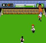 Mike Tyson's Punch-Out!! NES Don Flamenco is dancing with a rose in his mouth before the fight.