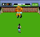 Mike Tyson's Punch-Out!! NES Bald Bull is preparing for his bull-rush attack.