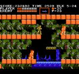 Castlevania III: Dracula's Curse  NES Burning men, and a moving platform I'm supposed to jump on.