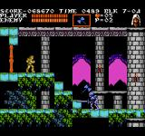Castlevania III: Dracula's Curse  NES Throwing an axe in the head of a sword-wielding skeleton.