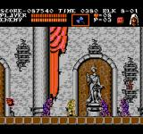 Castlevania III: Dracula's Curse  NES A nice-looking statue, not so nice-looking vampire-bat and zombies...