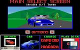 Road & Car DOS Main menu with new car Stealth R/T Turbo Dodge