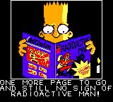 The Simpsons: Bartman Meets Radioactive Man Game Gear Introduction sequence, Bart is reading a comic.