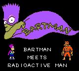The Simpsons: Bartman Meets Radioactive Man Game Gear Title screen