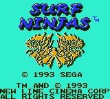 Surf Ninjas Game Gear Primary title screen
