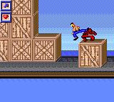 Surf Ninjas Game Gear Flying kick