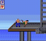 Surf Ninjas Game Gear The boss of the second stage.