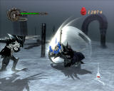 Devil May Cry 4 Windows Fighting against ice monsters.