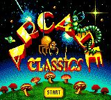 Arcade Classics Game Gear Title screen