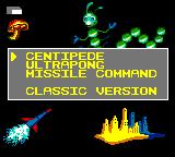 Arcade Classics Game Gear Select one of the three games and the game mode (classic or SEGA).
