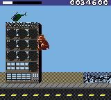 Rampage World Tour Game Boy Color This building is already destroyed.