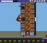 Rampage World Tour Game Boy Color You can find health or money in the building holes.