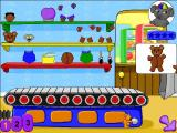 JumpStart Pre-K Windows The player builds the pictured bear by selecting matching parts from the shelves