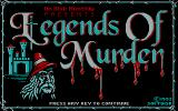 Legends of Murder: Volume 1 - Stonedale Castle DOS Title Screen