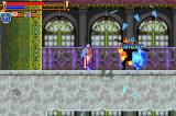 Castlevania: Harmony of Dissonance Game Boy Advance Spells change depending on the special weapon you are carrying.