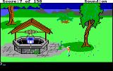 King's Quest DOS Graham finds a well.