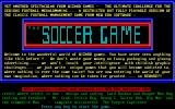 The Soccer Game DOS Title Screen.