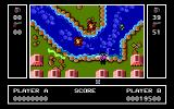 Ikari Warriors II: Victory Road PC Booter Battle at a river (EGA)