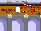 "Boxhead: The Rooms Browser ""The Bridge"" level (killed)."