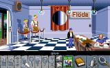 Flight of the Amazon Queen Amiga Inside Floda Headquarters a front for thinly disguised German Nazi types.
