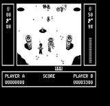 Ikari Warriors II: Victory Road PC Booter Gameplay on the first level (Hercules Monochrome)