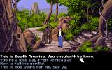Flight of the Amazon Queen Amiga A gorilla in South America? What's going on here?
