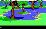 King's Quest II: Romancing the Throne DOS Taking a nice little dip in the water