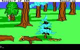 King's Quest II: Romancing the Throne DOS Walking along in a forest